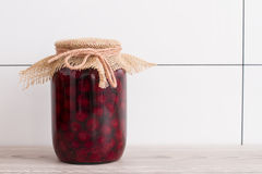 Canned cherry Royalty Free Stock Photos
