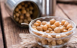 Canned Chick Peas Stock Images