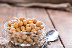 Canned Chick Peas stock photo