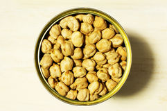 Canned chickpeas Stock Images