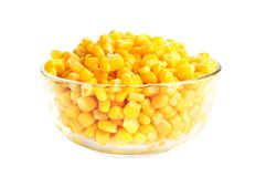 Canned corn Stock Photography