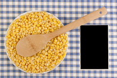 Canned corn Royalty Free Stock Images
