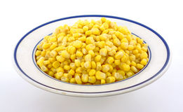 Canned corn bowl Stock Images