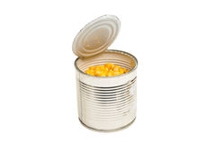 Canned Corn close-up Royalty Free Stock Image