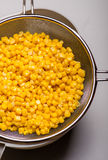 Canned corn Stock Photo