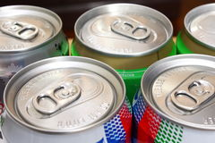 Canned Drinks Royalty Free Stock Photos