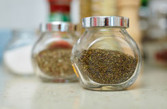 Canned dry condiments Stock Image