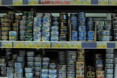 Canned fish Royalty Free Stock Photography