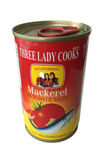 Canned fish Three Lady Cooks Brand Stock Images