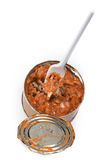 Canned fish in tomato sauce Royalty Free Stock Photo