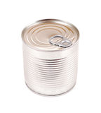 Canned food. Isolated on white royalty free stock photos