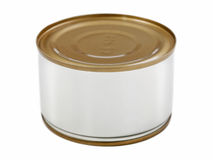 Canned food. Canned preserved food aluminum metal container can royalty free stock image