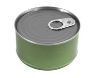 Canned food. Isolate on white royalty free stock photos