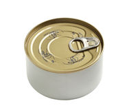 Canned food. Isolated on white background royalty free stock photo