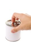Canned Food. With white background royalty free stock photos