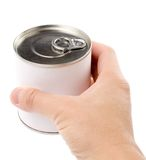 Canned Food. With white background stock photos