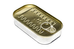 Canned food. With validity date, isolated on white background royalty free stock photos
