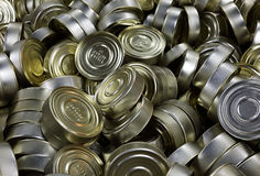 Canned food background Stock Photography