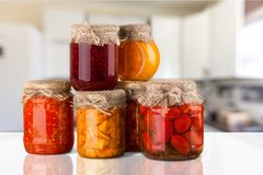Canned Food. Can Preserved Vegetable Food Stack Bean royalty free stock image