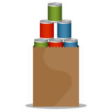 Canned Food Drive Royalty Free Stock Photography