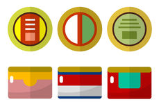 Canned food flat icons Stock Image