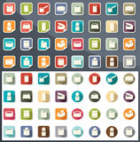 Canned food icons vector Royalty Free Stock Photos