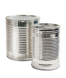 Canned food isolated Royalty Free Stock Photos