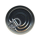 Canned food tin can top Royalty Free Stock Photos