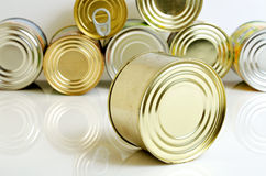 Canned food in tin cans. Stock Photography