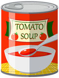 Canned food for tomato soup Royalty Free Stock Photo