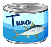 Canned food with tuna inside Royalty Free Stock Images