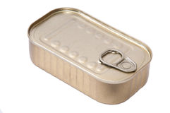Canned food on the white background Stock Images
