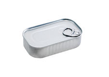 Canned Food On White Stock Photo