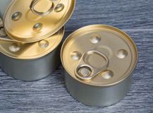 Canned foods for cats and dogs. Canned round form for cats and dogs. Food. unopened stock image
