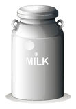 A canned fresh milk. Illustration of a canned fresh milk on a white background royalty free illustration