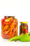 Canned fresh paprika Royalty Free Stock Photos