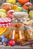 Canned fruits and vegetables Royalty Free Stock Image