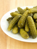 Canned gherkins Stock Photography