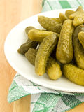 Canned gherkins Stock Photo