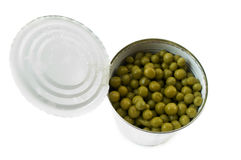 Canned Green Peas Royalty Free Stock Image