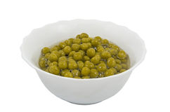 Canned green peas in glass chalice Stock Photography