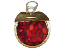 Canned kidney bean Stock Photography