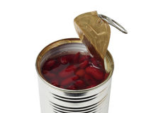 Canned kidney beans Stock Photo