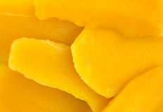 Canned mango slices close view Stock Image