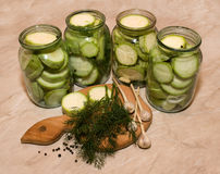 Canned marrows Royalty Free Stock Image