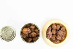 Canned meat for animal food Royalty Free Stock Photo