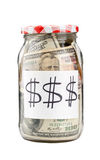 Canned money Stock Photography