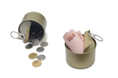 Canned Money Stock Photo