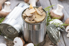 Canned Mushrooms Stock Images