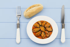 Canned mussels Royalty Free Stock Photo